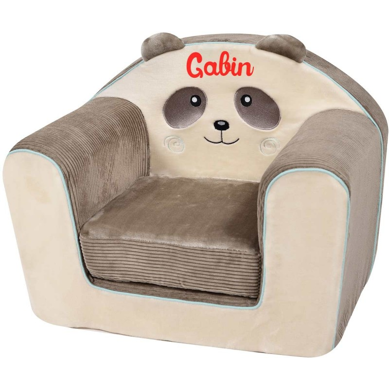 fauteuil club enfant avec pr nom pandi panda. Black Bedroom Furniture Sets. Home Design Ideas
