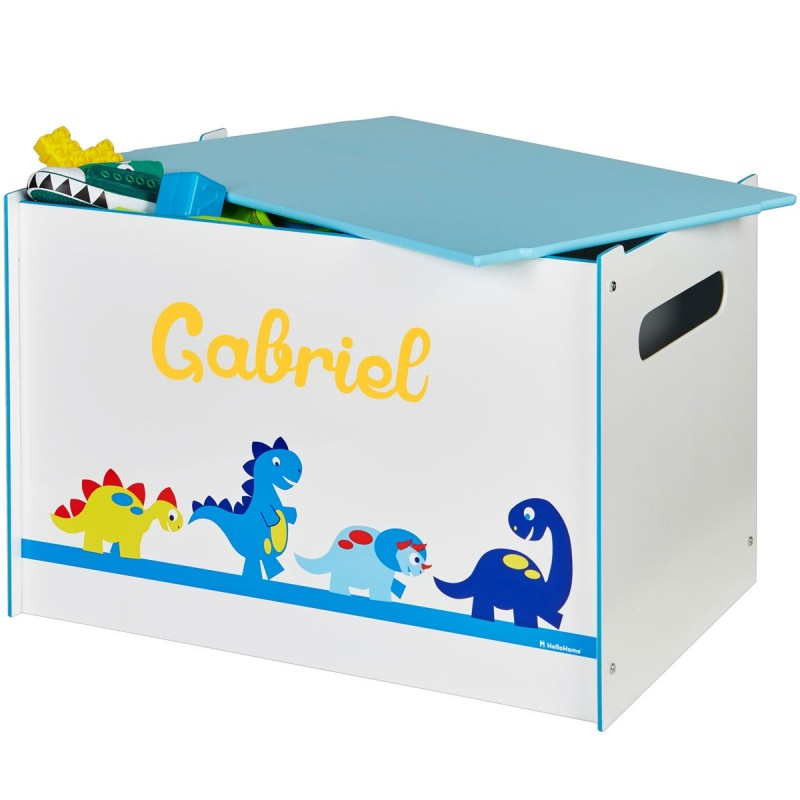 coffre jouets enfant personnalis disnosaures. Black Bedroom Furniture Sets. Home Design Ideas