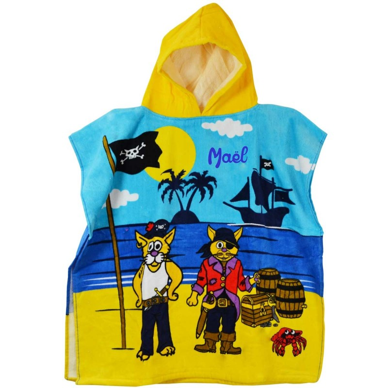 poncho de plage enfant personnalis pirates. Black Bedroom Furniture Sets. Home Design Ideas