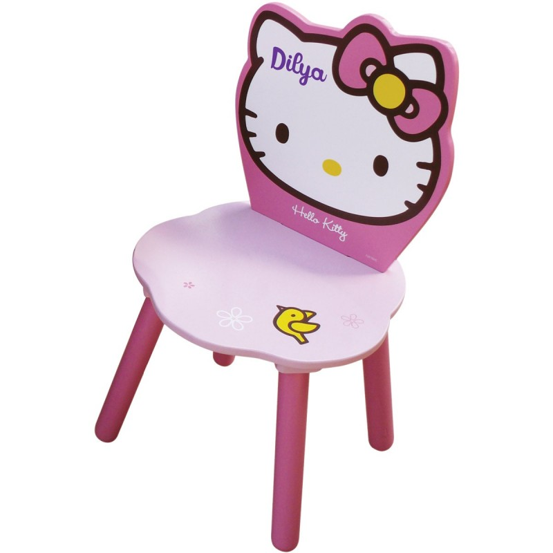 chaise enfant personnalis e hello kitty. Black Bedroom Furniture Sets. Home Design Ideas