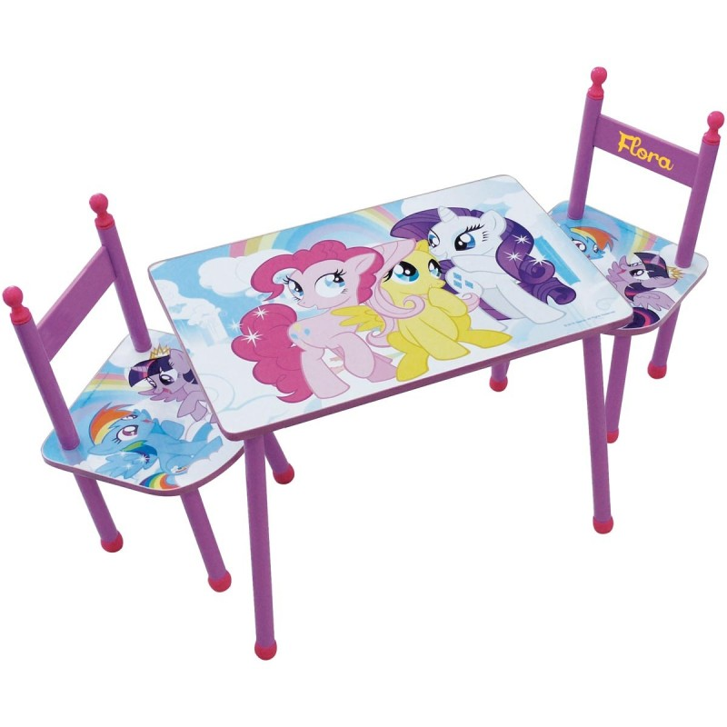 table et chaises enfant personnalis es my little pony. Black Bedroom Furniture Sets. Home Design Ideas