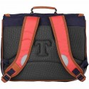 Cartable Tann's 41 cm collector Iconic - Bleu / Rouge