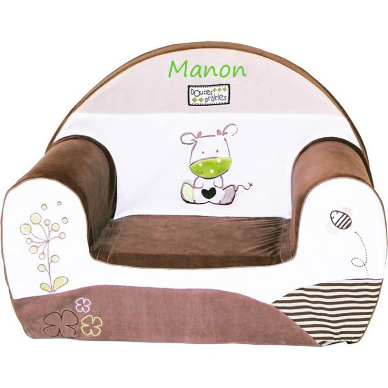 fauteuil club enfant personnalis avec pr nom mango. Black Bedroom Furniture Sets. Home Design Ideas