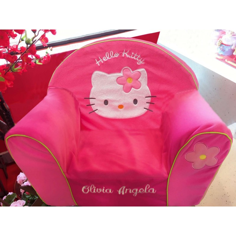 fauteuil club enfant personnalis hello kitty. Black Bedroom Furniture Sets. Home Design Ideas