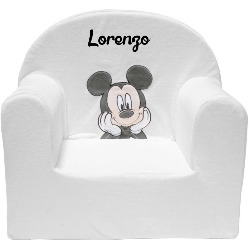 fauteuil club disney pour enfant personnalis mickey. Black Bedroom Furniture Sets. Home Design Ideas