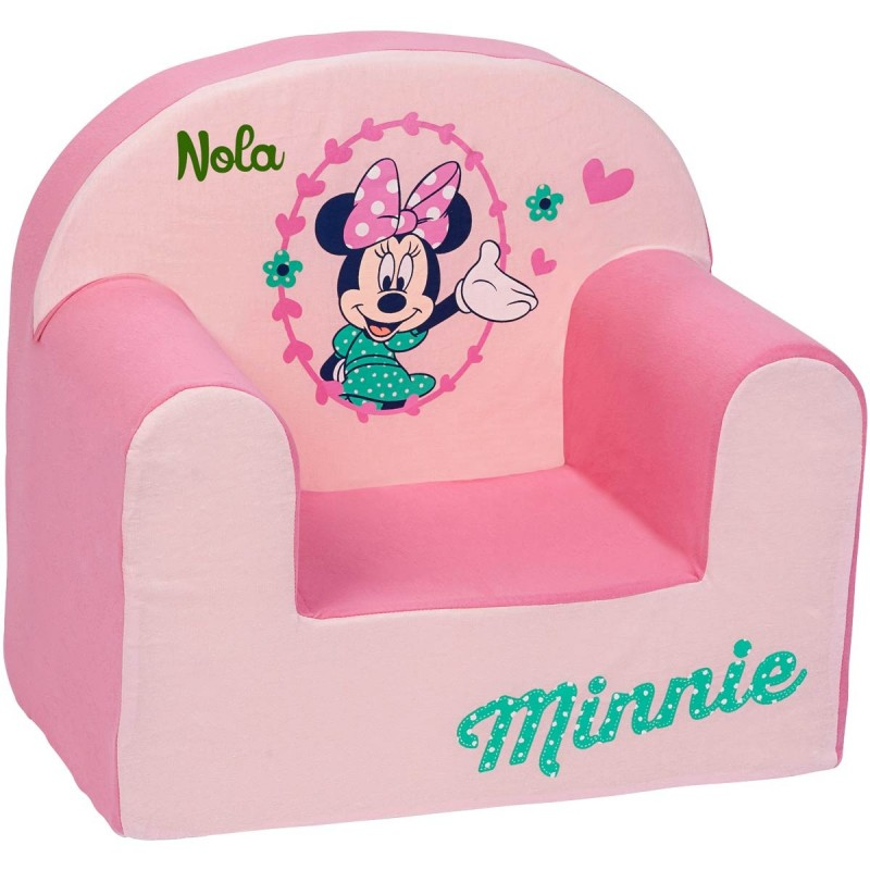 fauteuil club enfant personnalis disney minnie rose. Black Bedroom Furniture Sets. Home Design Ideas