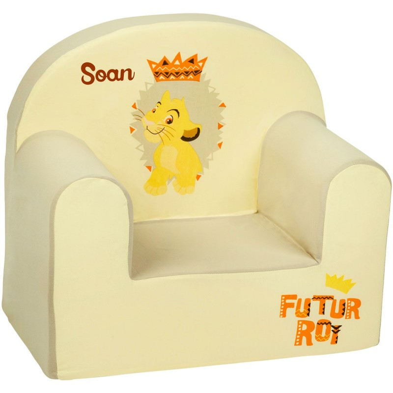 fauteuil club enfant personnalis disney simba. Black Bedroom Furniture Sets. Home Design Ideas