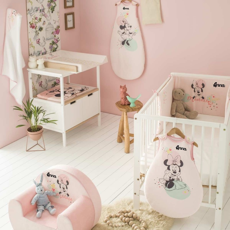 fauteuil club enfant personnalis minnie floral. Black Bedroom Furniture Sets. Home Design Ideas