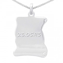 Collier photo argent - Parchemin